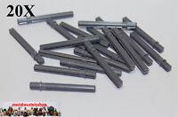 20X Lego® Technic 32209 Kreuzachsen Achse mit Stopper 5,5L neues Dunkelgrau NEU