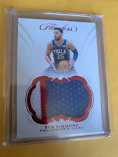 2018-19 Flawless Ben Simmons 76ers RED Game Used Patch 02/15