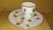Royal Victoria Bone China Fruit Cup and Plate Grapevine dish, Made in ENGLAND
