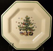 "Nikko Christmastime Dinner Plates 10 3/4"" Christmas Tree Crazing"