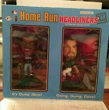 MARK MCGUIRE AND KEN GRIFFEY JR ACTION FIGURE.1998 HEADLINERS HOME RUN NIB