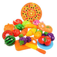 6-24X Plastic Pretend Kitchen Toy Fruit Vegetable Cutting Food Set For Kids Play