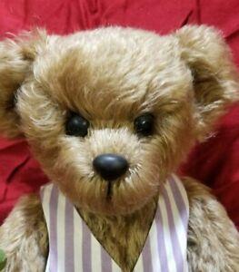"""Dorothy DePaulo """"Simon"""" artist teddy bear mohair 16"""" 1995"""