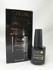 CND Shellac Xpress5 Top Coat - 5 Minute Removal - 15ml / 0.5oz NEW IN BOX