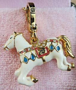 New Juicy Couture Retired Rare Charm In Box White Circus Carousel Horse YJRU2989