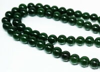 """Estate Chinese Icy Emerald Green A Jade Stone Bead,Dragon Necklace10,8mm 31"""""""