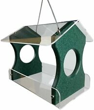 Jcs Wildlife Green Recycled Poly Lumber Hanging Bird Feeder