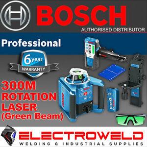 BOSCH 300m Rotary Rotation Laser Level, Green Beam *LR 1G Receiver* GRL 300 HVG