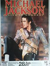 MICHAEL JACKSON  1992  FRANKFURT  orig.Concert Poster  Konzert Plakat  A1