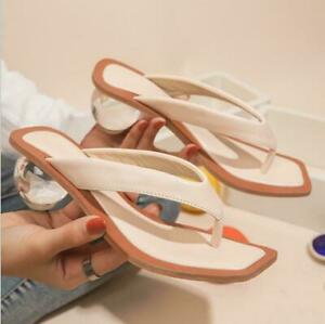 Crystal Ball Low Heel Pvc Fashion Women Slipper Peep Toe Summer Clear Sandal