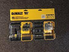 DeWALT MaxFit 105 PC SCREWDRIVING BIT SET Locking Magnetic Holder Socket Adaptor