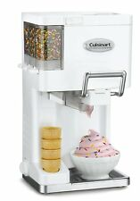 Cuisinart ICE45 Mix It In Soft Serve 11/2Quart Ice Cream Maker, White, New