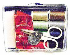SEWING KIT PORTABLE 18 Pc Travel Needles Thread Thimble Scissors Threader New i