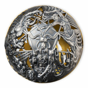 Heaven and Hell 2 oz Antique Finish Silver Coin 5$ Samoa 2021