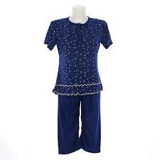 Pigiama donna estate corto  in cotone   pantalone pinocchietto   7DEPIG023