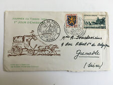 FDC Mar 8 1952 JOURNEE DU TIMBRE, Nancy to Grenoble, FRANCE