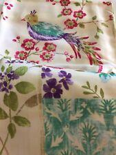 Garden Party Cottage Chic Postcards Floral Sussex Birds Fabric Shower Curtain