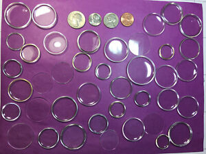 HUGE LOT OF 40 PLASTIC ROUND WATCH CRYSTALS