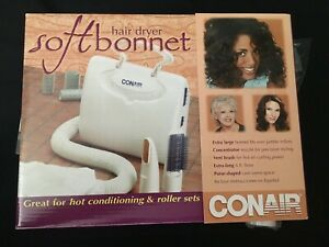 Soft Bonnet Hair Dryer Portable Hooded Conair Styling Cap Hood Vent Brush Volume