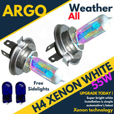 H4 Xenon White 55w Dipped Beam 12v Headlight Headlamp Bulbs Light 501 Sidelight