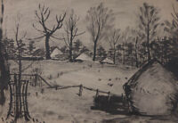 Alfred Henry Robinson Thornton NEAC (1863-1939) - Pen and Ink Drawing, Farm