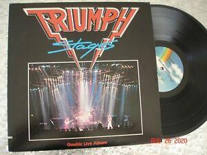 "TRIUMPH   ""Stages""  ~Greatest Hits Live~  Vintage LP MCA Records – MCA2-8020"