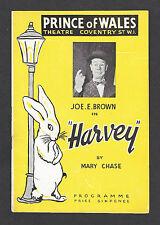 "Joe E. Brown ""HARVEY"" Mary Chase / Pulitzer Prize 1949 London Cast Playbill"