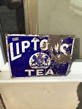 More details for liptons tea enamel sign