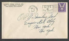 DATED 1944 COVER SAN DIEGO CA NORTH PARK CYCLE CO