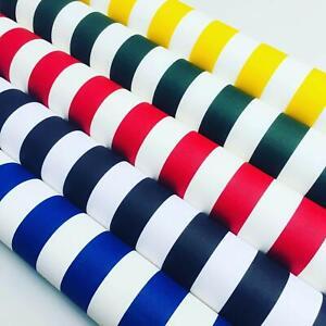 Teflon Waterproof Outdoor Striped Fabric Stripe PU Coated Material -140cm wide