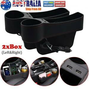 Multifunctional Usb Charging Car Seat Side Pocket Gap Organizer with Cup Holder