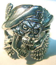 MILITARY SOLDIER SKULL WING BIKER RING BR148 silver NEW BIKERS STYLE jewelry