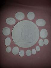 Grand Tour Cameos Intaglios Gems Medallions plaster x 16 Tassie Seals scenes