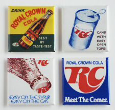 Royal Crown Cola FRIDGE MAGNET Set (1.5 x 1.5 inches each) sign can bottle RC