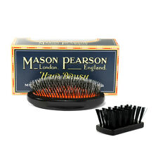 Mason Pearson Brush MILITARY JUNIOR BN2M Bristle & Nylon Dark Ruby Black