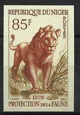 NIGER LION PANTHERA LEO LÖWE FELIN FAUNE FAUNA NON DENTELE IMPERF ESSAY ** 1959
