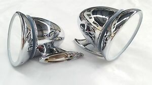HOLDEN KINGSWOOD MONARO PREMIER HQ HJ HX HZ WB GTS BULLET CONE STAINLESS MIRRORS