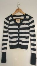 Girls/Teen Hollister grey and white stripe cotton blend cardigan size medium