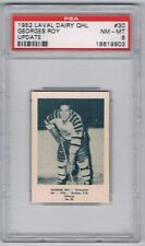 1952 Laval Dairy QHL Update Hockey Card Chicoutimi Georges Roy Graded PSA 8