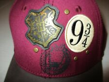 Nwt Harry Potter Hogwarts Burgundy/Gray Embroidered Adult Baseball Cap Fast Ship