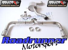 """MILLTEK SSXVW248 GOLF GTI MK6 Di Scarico Cat Indietro 3"""" RACE SYSTEM (NON RES posteriore)"""