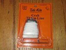 2 CRAB THROW LINES WEIGHTED BAIT HOOK PIN 25 FT LINE CRABBING HAND FISHING TRAP