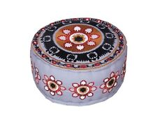 Handmade Patchwork Pouf Cover Throw Indian Vintage Cotton Ottoman Cover
