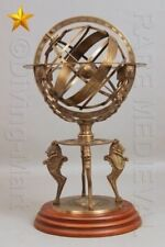 "Brass Tabletop Armillary Nautical Sphere Globes Antique 18"" inch Large Engraved"