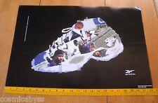 "Reebok 1997 Allen Iverson Saudia Roundtree shoes poster 14.5x22"""
