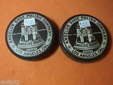 ((2)) Angelus Shoe Polish Company Tins ~ 1950's (?)