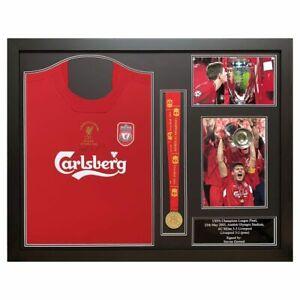 Steven Gerrard Signed Framed Liverpool Champions Football Final Shirt with Medal