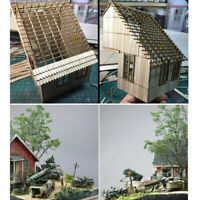 1/35 Scale WWII Soldier Wood Cabin Ruined Corner War House Model Layout DIY