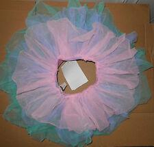 NWT Three Tier Organdy Tap Skirt Pink Blue Green Girls Small