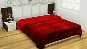 Queen And Twin Size Floral Solid Mink Blankets Bedding Ultra Soft Flannel Throw